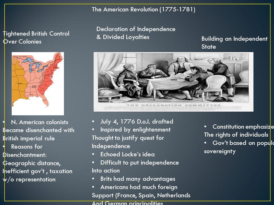 The American Revolution (1775-1781)