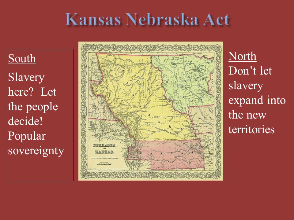Kansas Nebraska Act North South