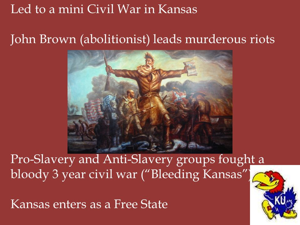 Led to a mini Civil War in Kansas
