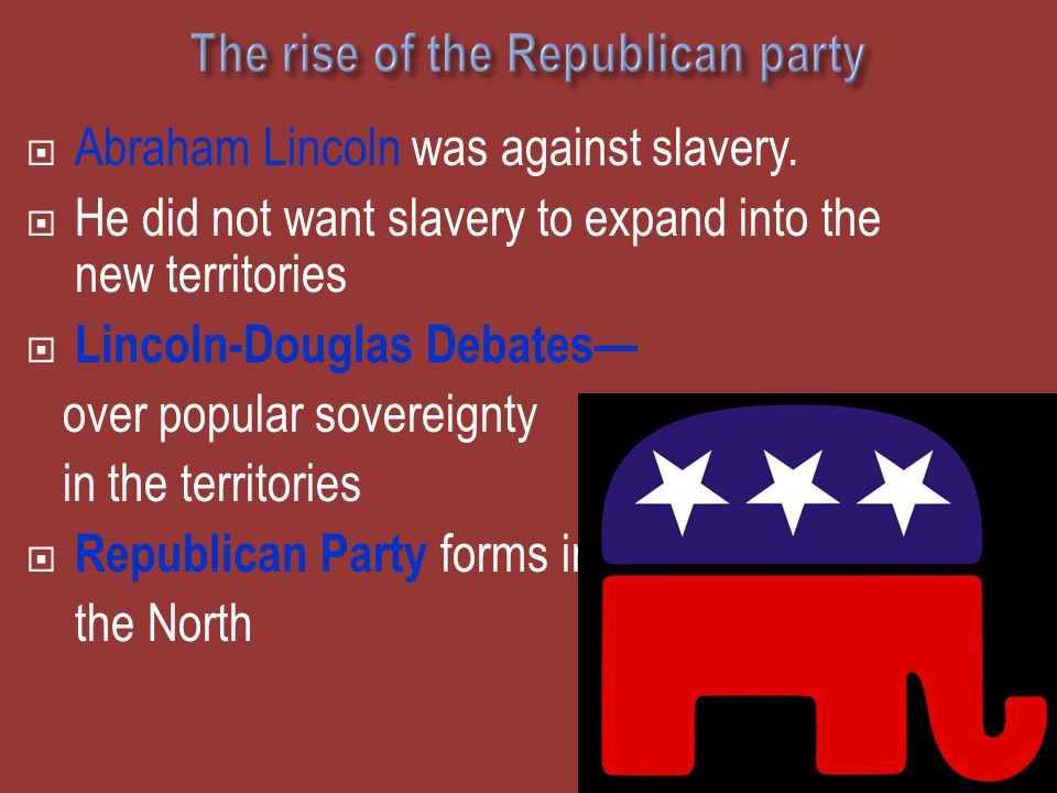The rise of the Republican party