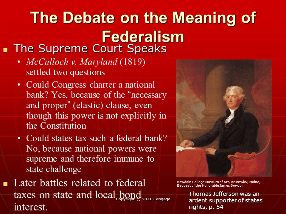 The Debate on the Meaning of Federalism