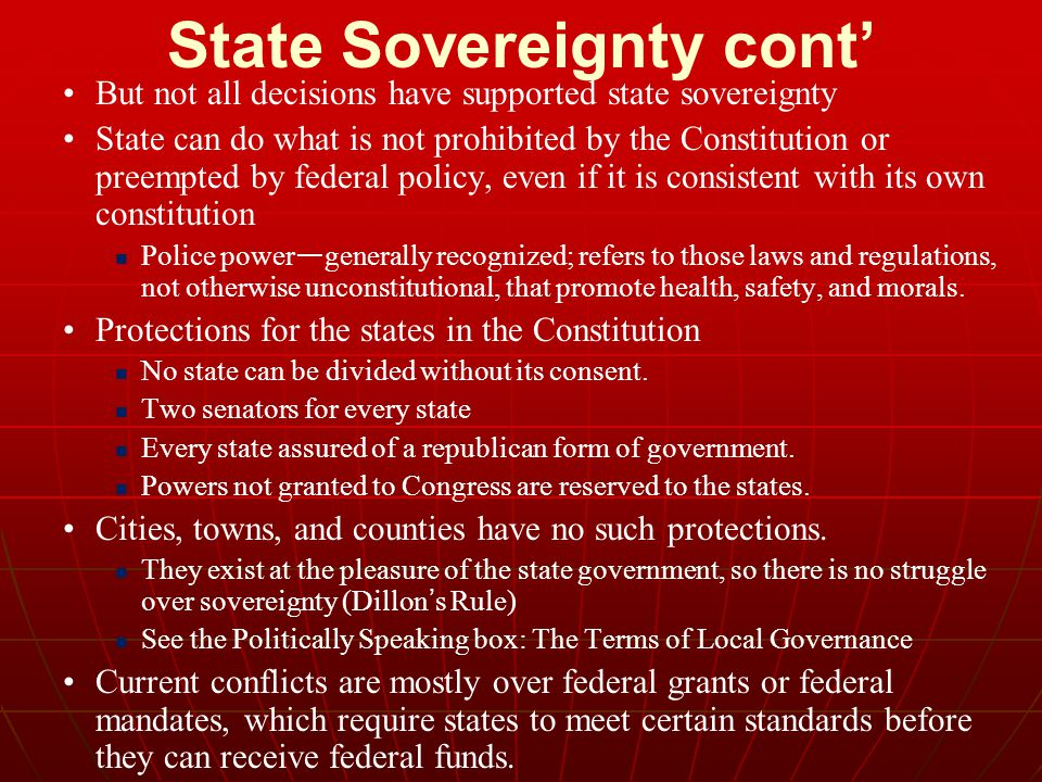 State Sovereignty cont'