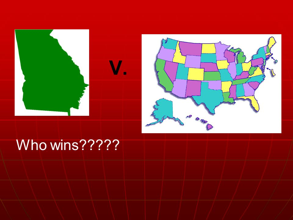 Who wins V. But where does the national govt's boundaries end