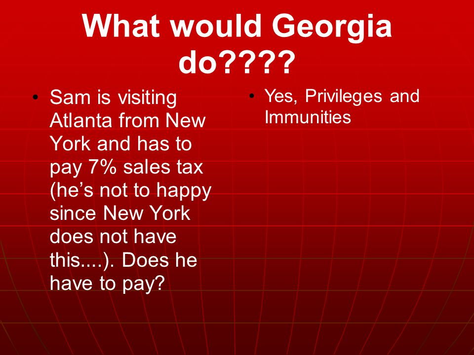 What would Georgia do