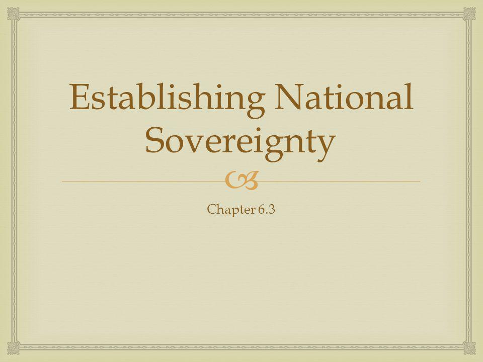 Establishing National Sovereignty