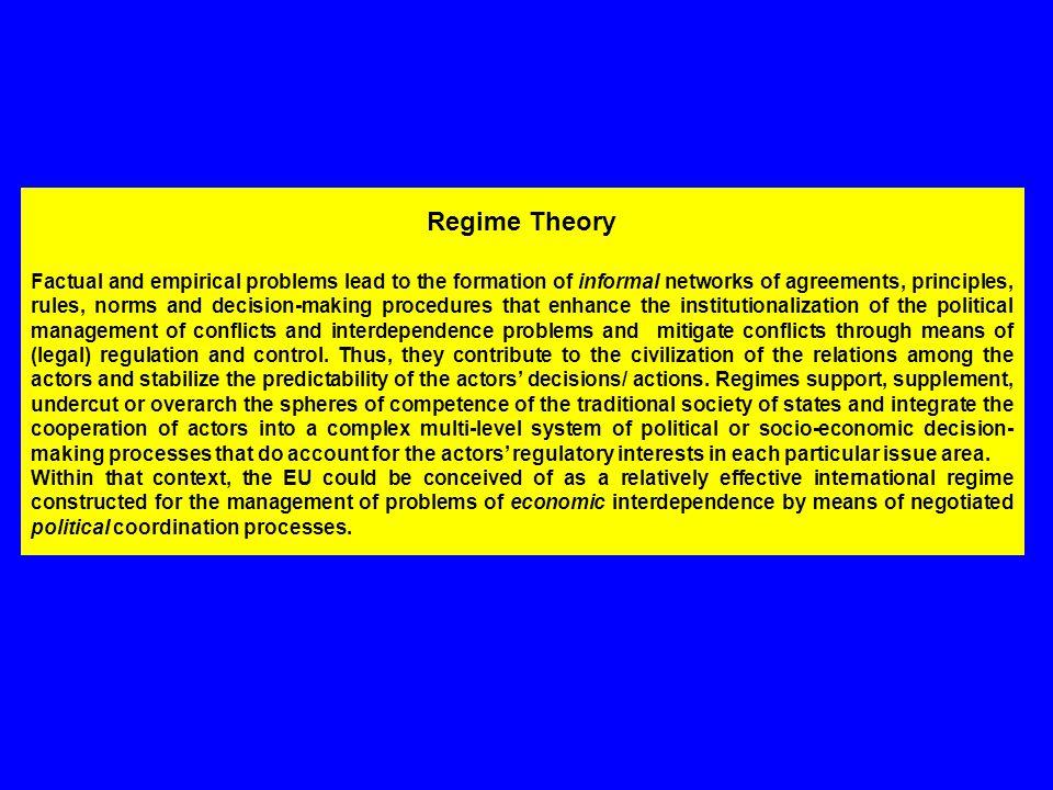 Regime Theory