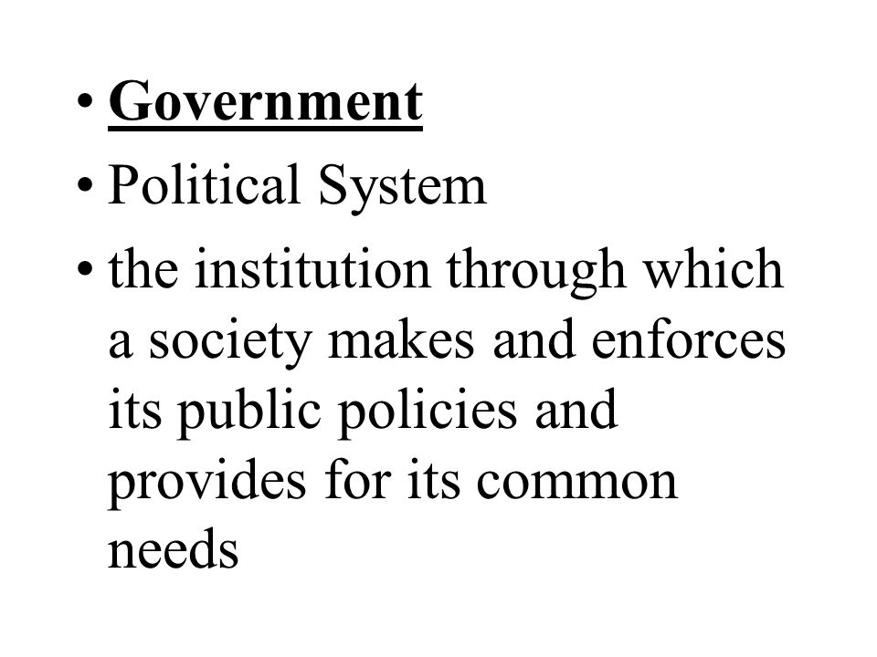 Government Political System.