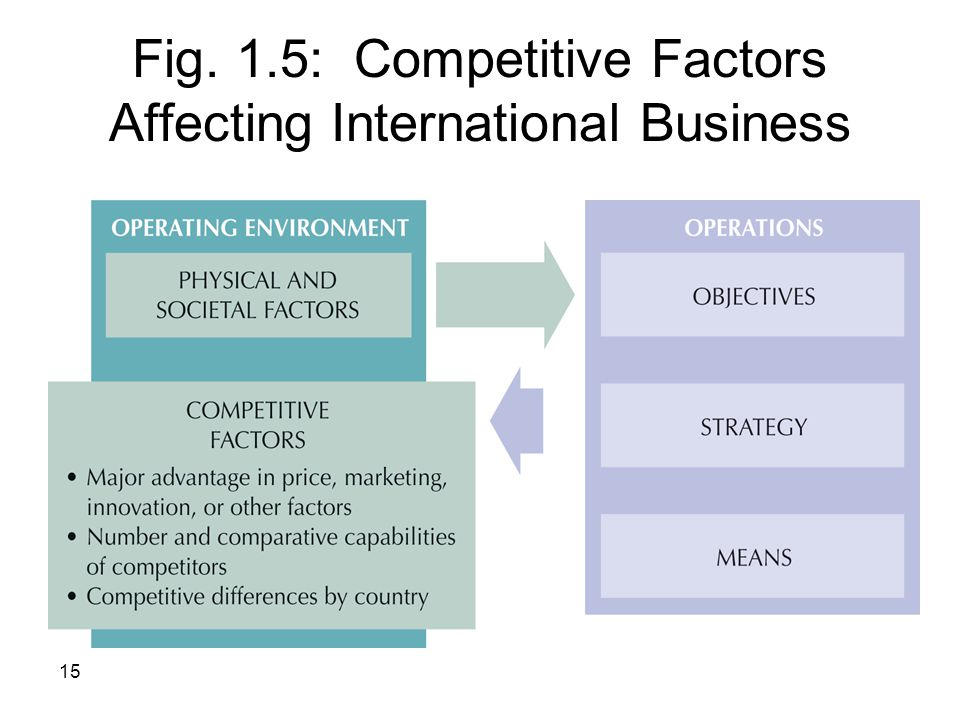 Fig. 1.5: Competitive Factors Affecting International Business