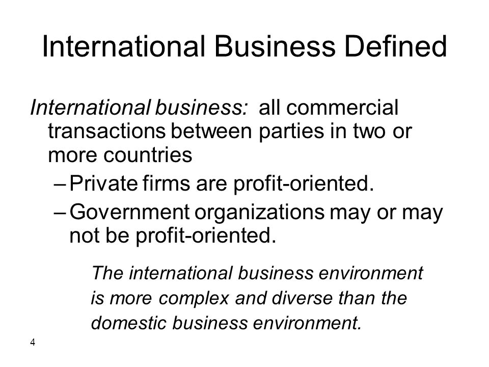 International Business Defined