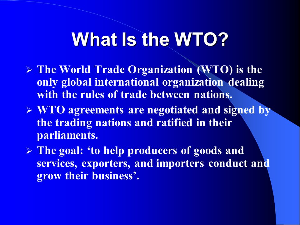 Trading on 'WTO Rules' is NOT the best option: the treachery of growth rates