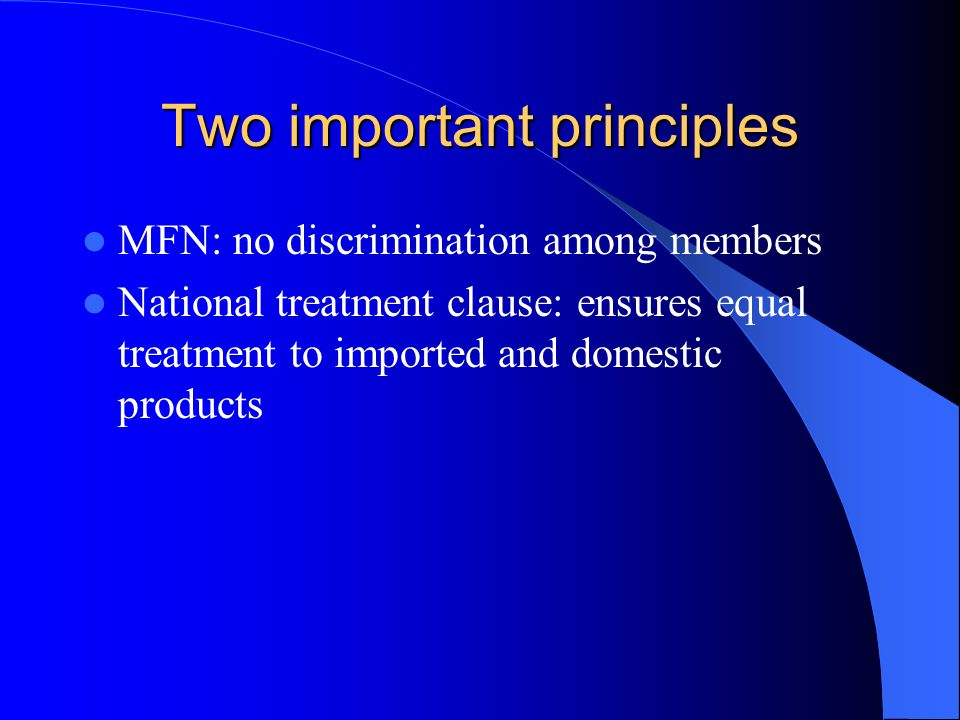 Two important principles