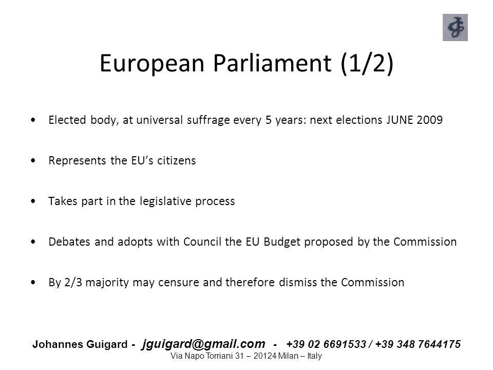 European Parliament (1/2)