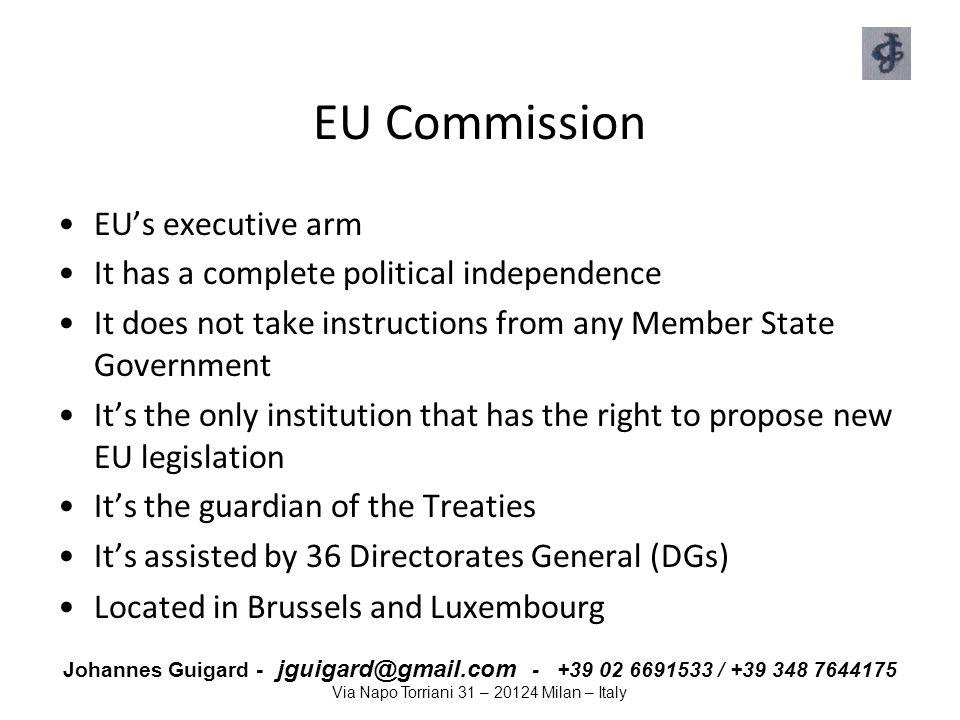 EU Commission EU's executive arm