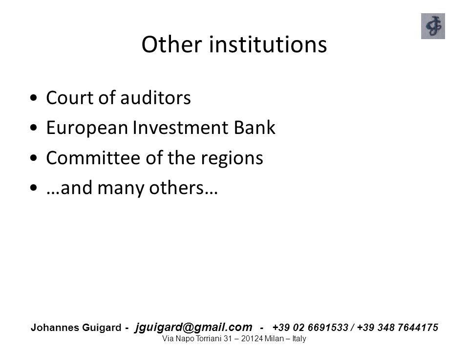 Other institutions Court of auditors European Investment Bank