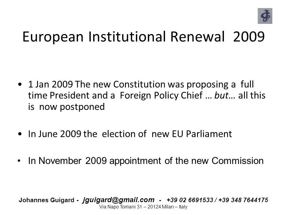 European Institutional Renewal 2009