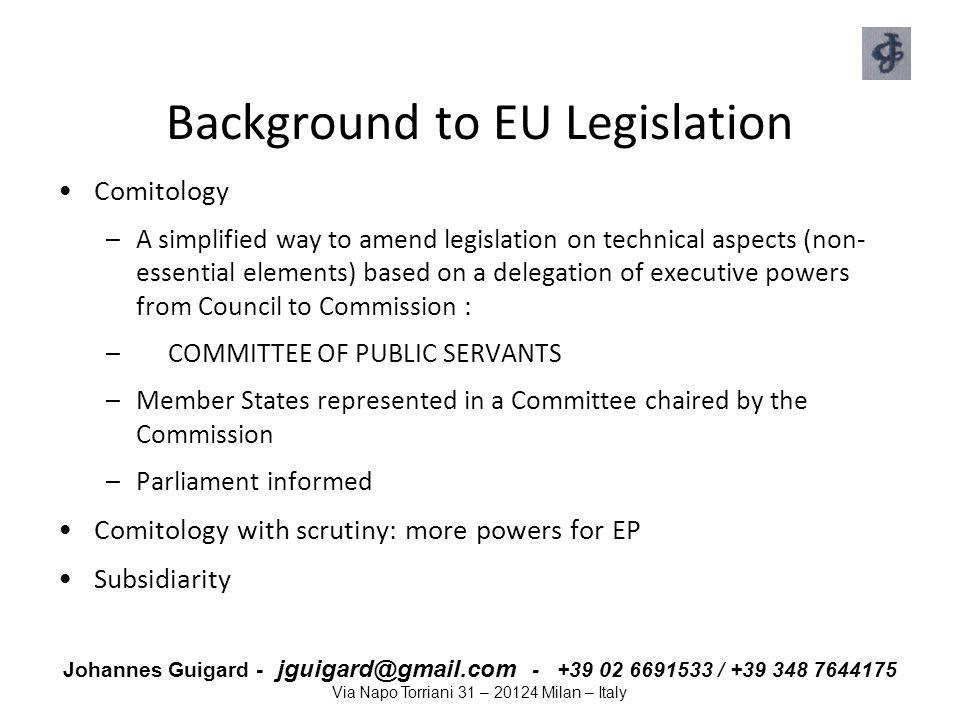 Background to EU Legislation