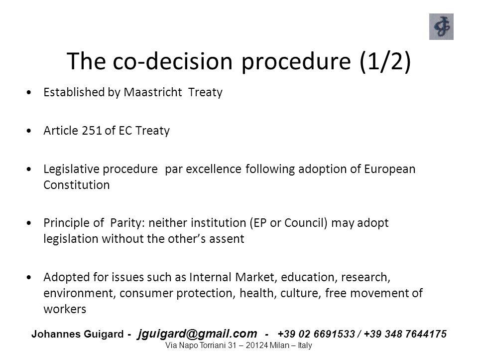 The co-decision procedure (1/2)