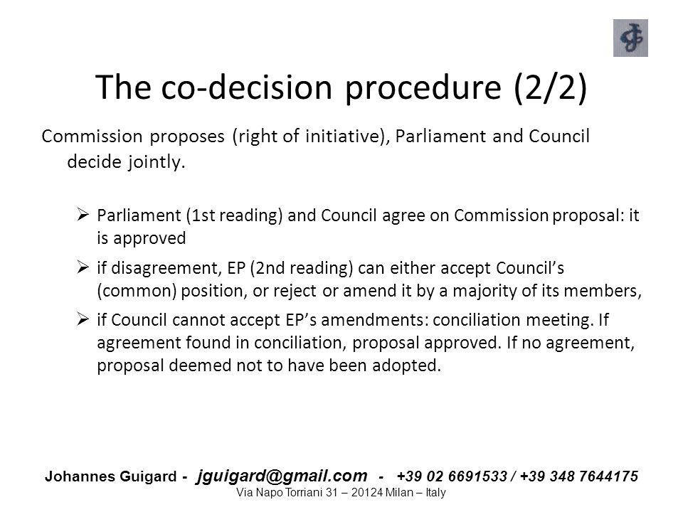 The co-decision procedure (2/2)