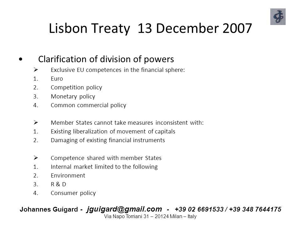 Lisbon Treaty 13 December 2007