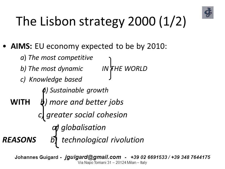 The Lisbon strategy 2000 (1/2)