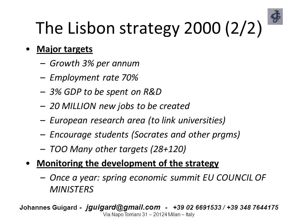 The Lisbon strategy 2000 (2/2)