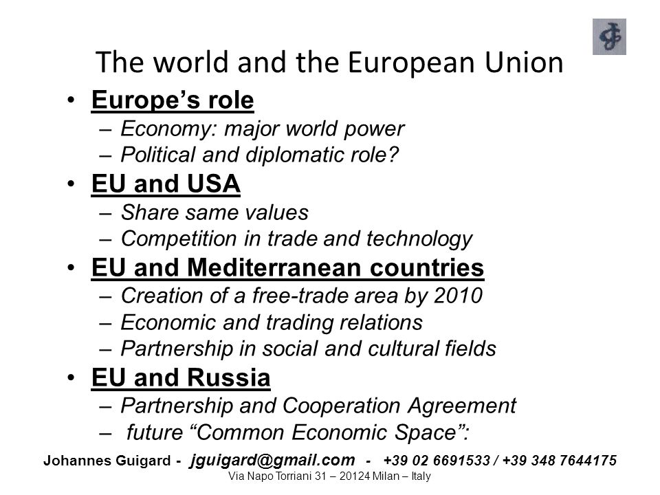 The world and the European Union