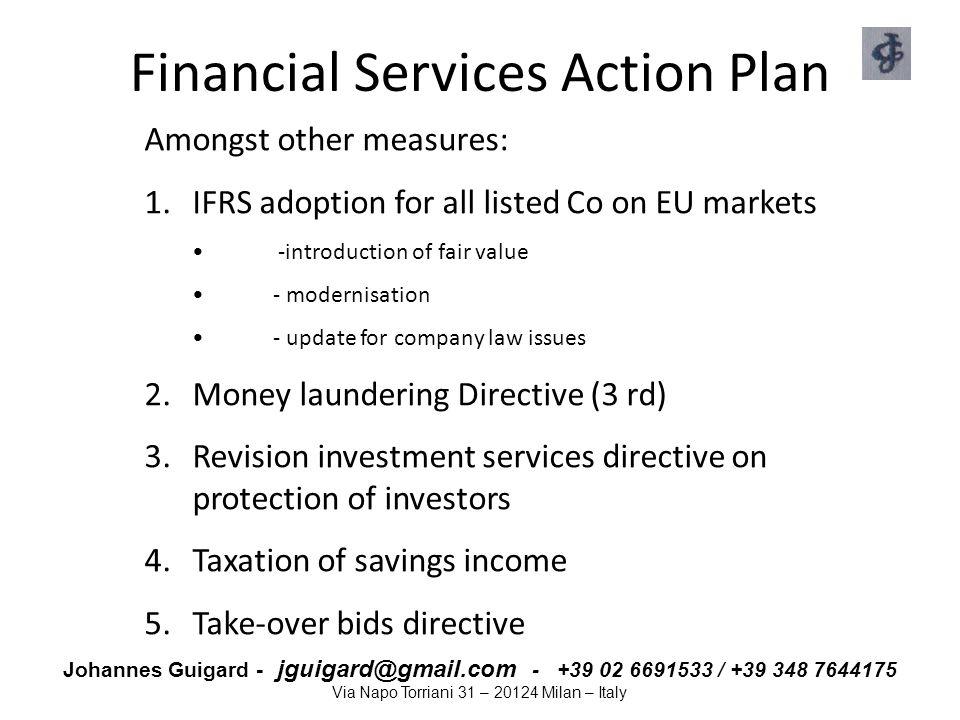 Financial Services Action Plan