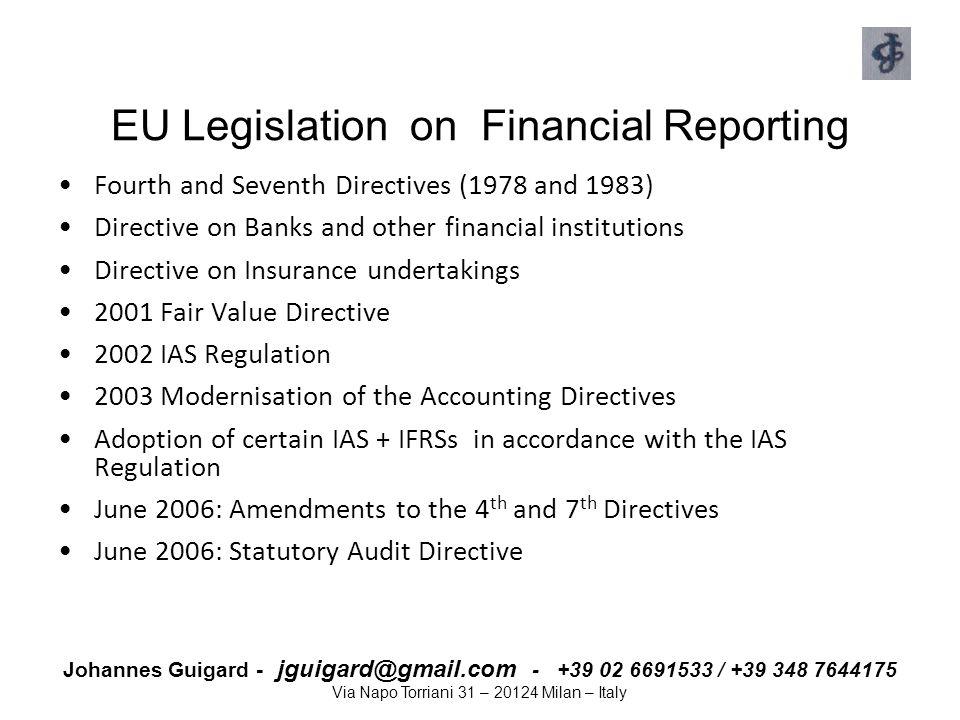 EU Legislation on Financial Reporting