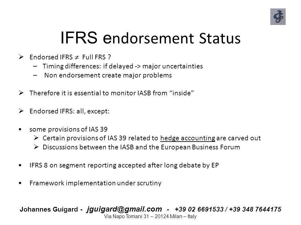 IFRS endorsement Status