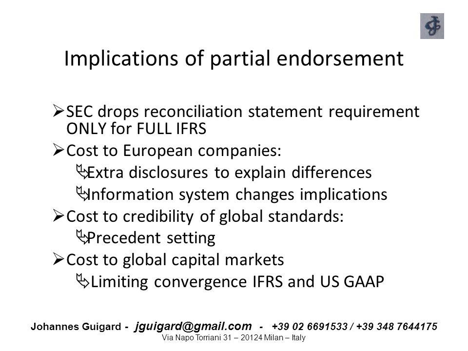 Implications of partial endorsement