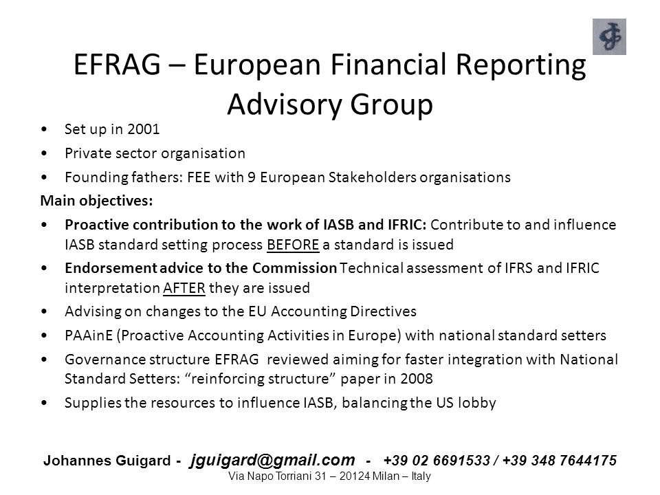 EFRAG – European Financial Reporting Advisory Group