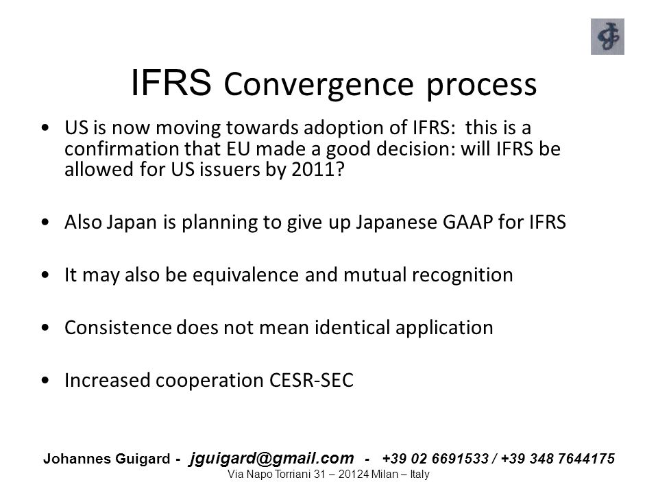 IFRS Convergence process
