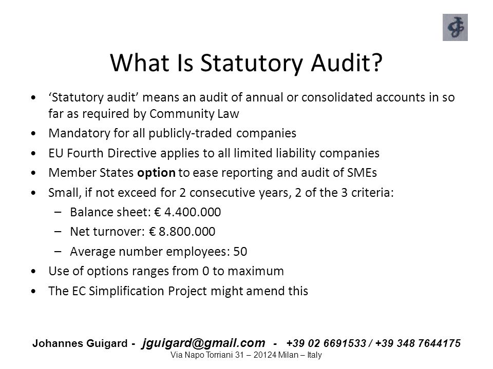 What Is Statutory Audit