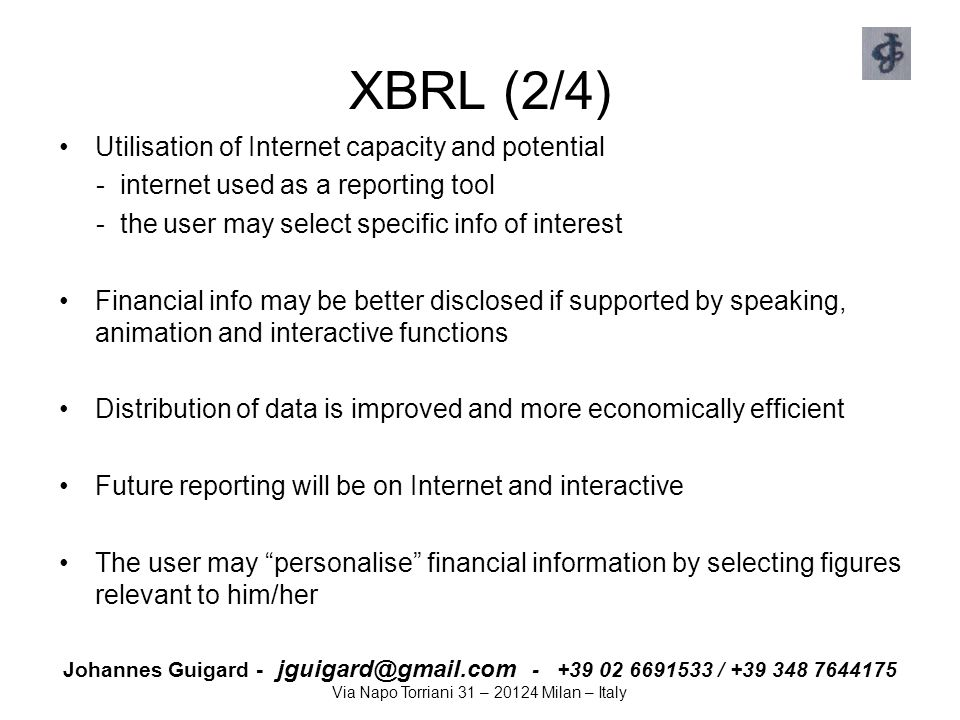 XBRL (2/4) Utilisation of Internet capacity and potential