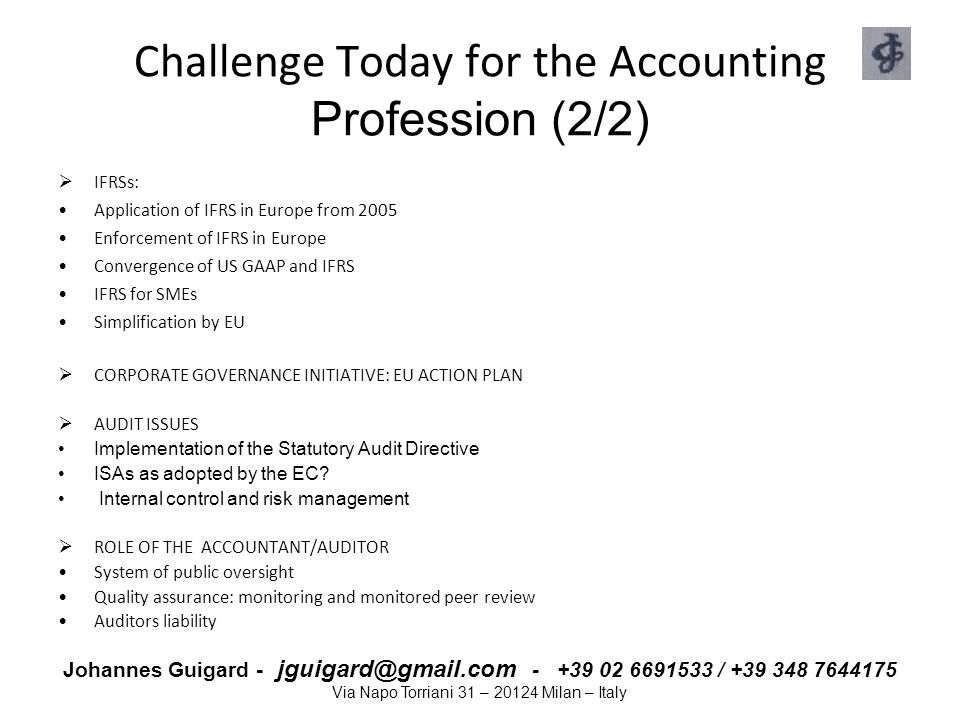 Challenge Today for the Accounting Profession (2/2)