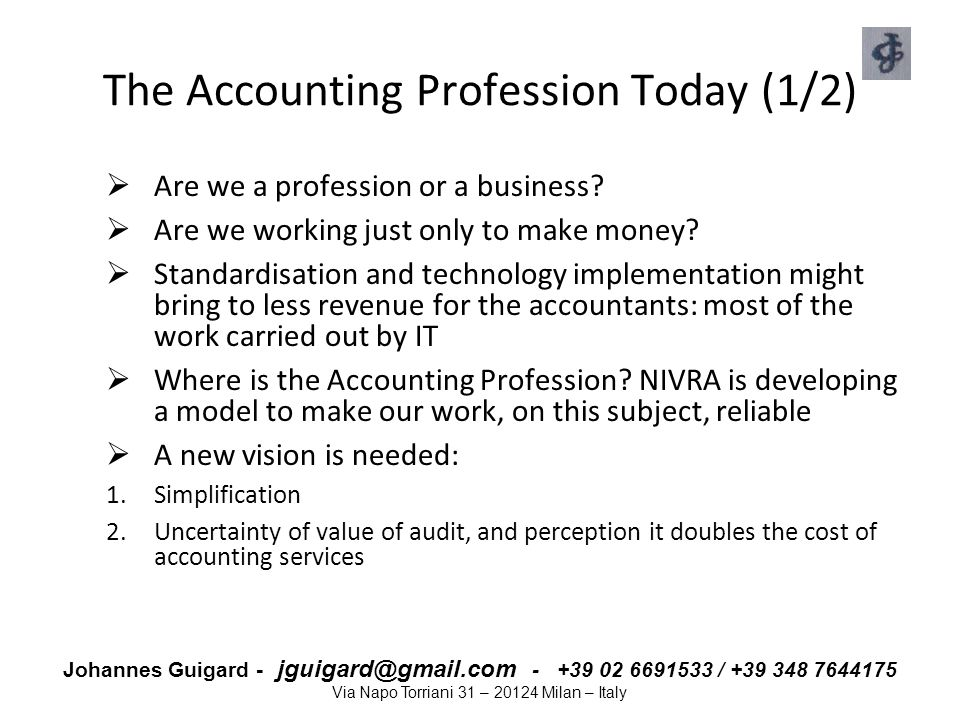 The Accounting Profession Today (1/2)