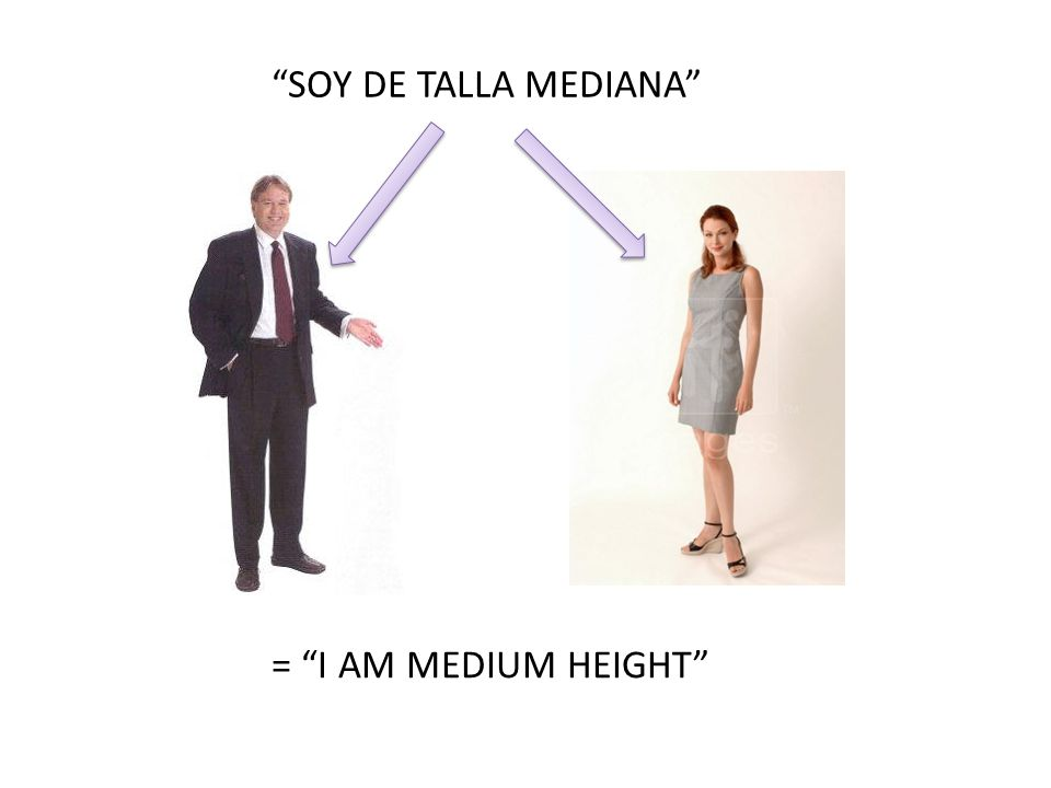 SOY DE TALLA MEDIANA = I AM MEDIUM HEIGHT
