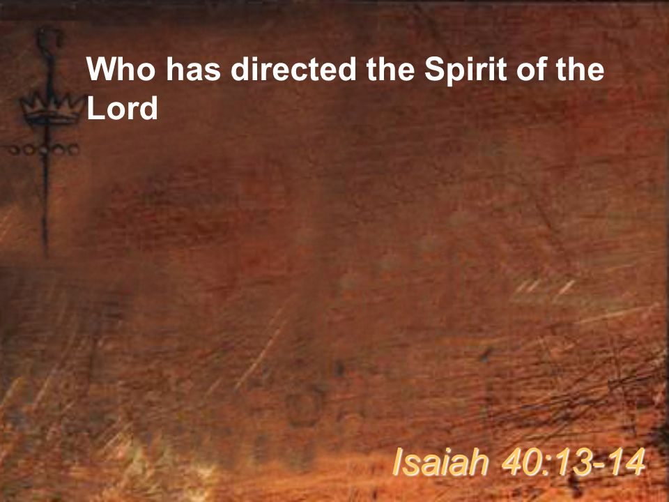 Who has directed the Spirit of the Lord