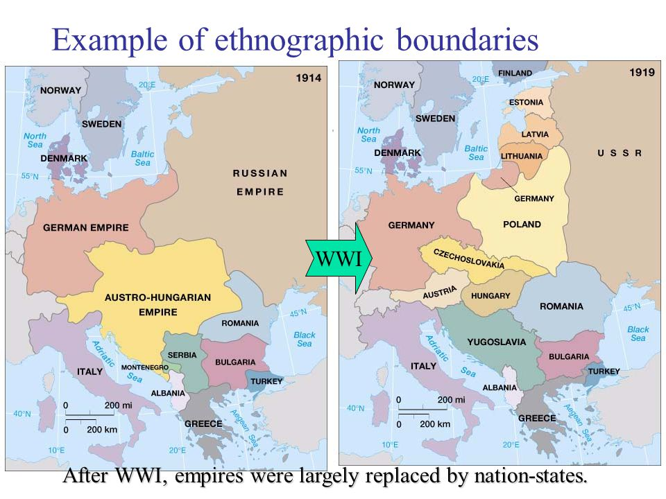 Example of ethnographic boundaries
