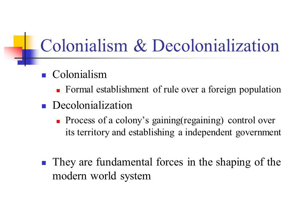 Colonialism & Decolonialization