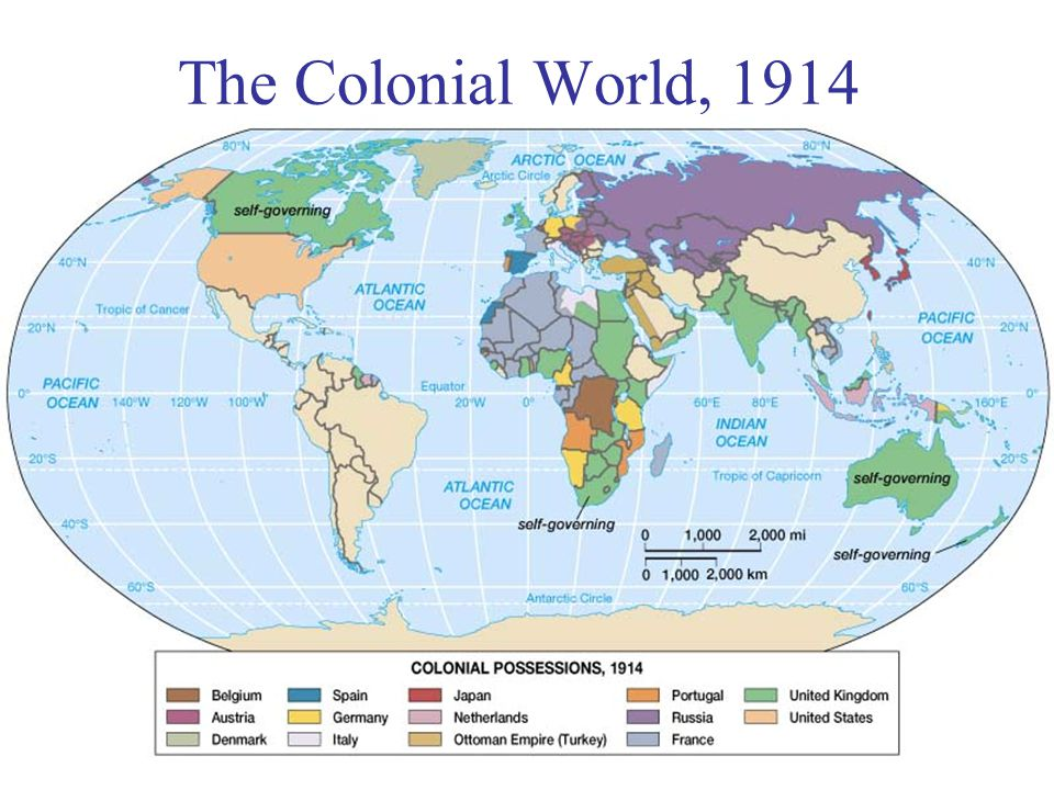 The Colonial World, 1914