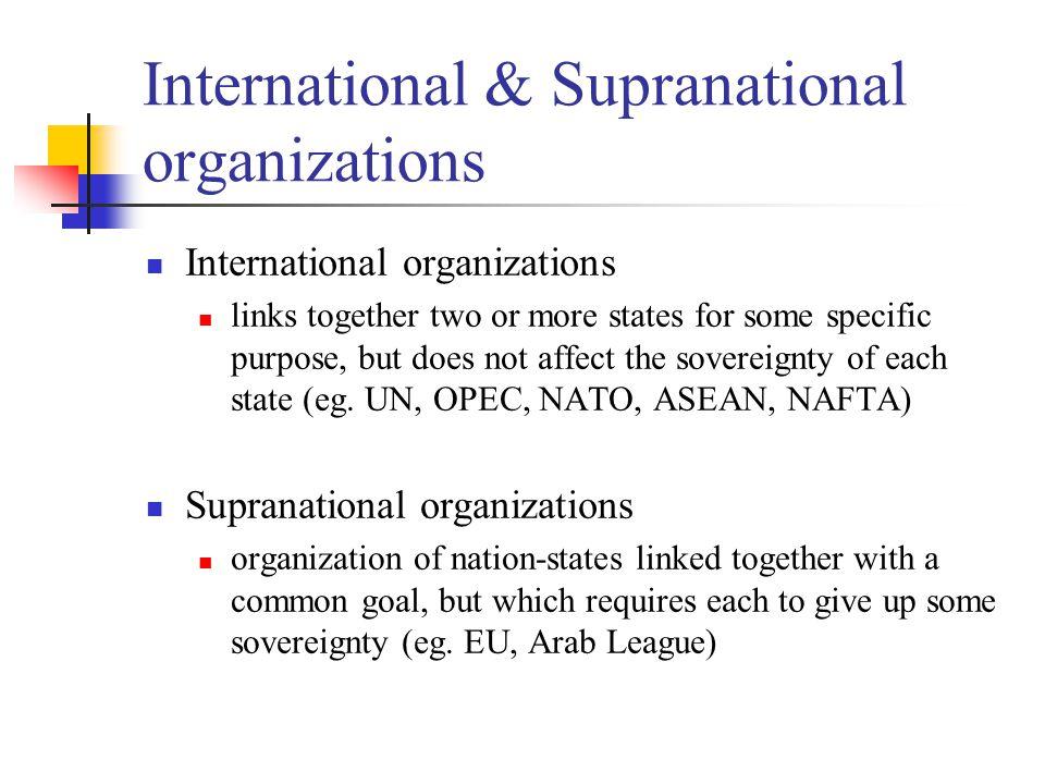 International & Supranational organizations