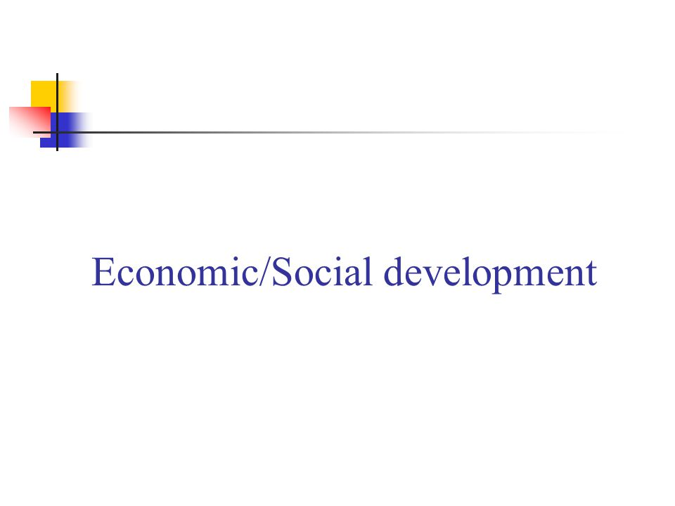 Economic/Social development
