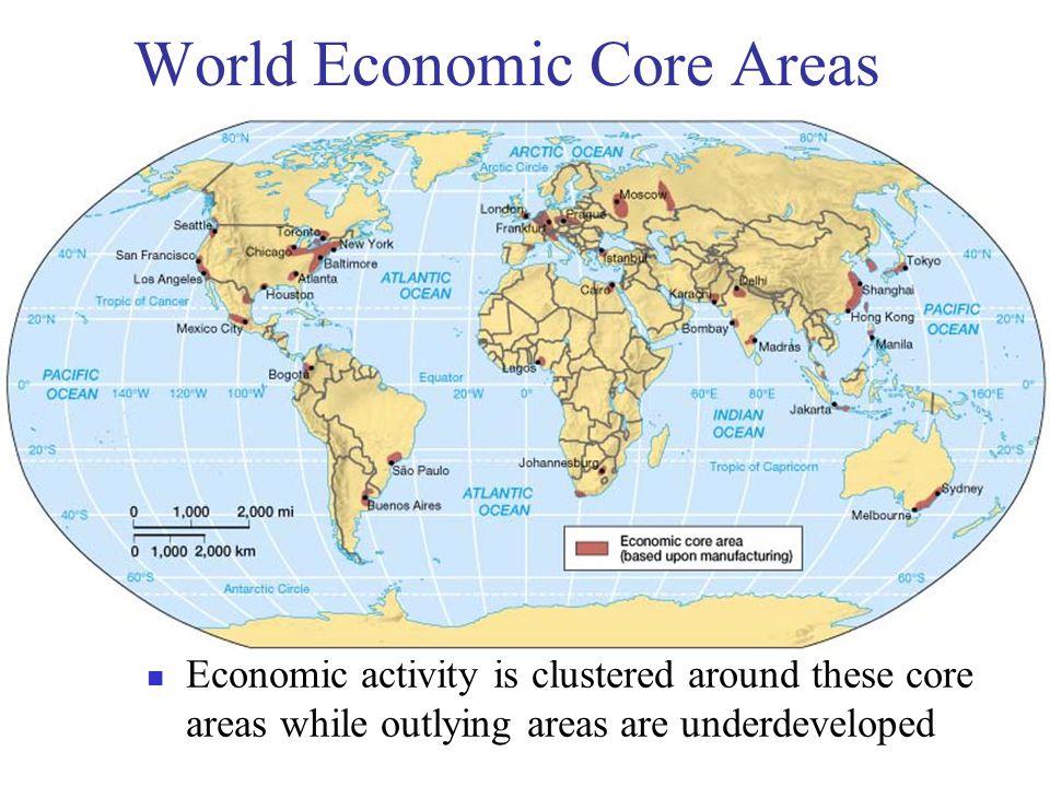 World Economic Core Areas