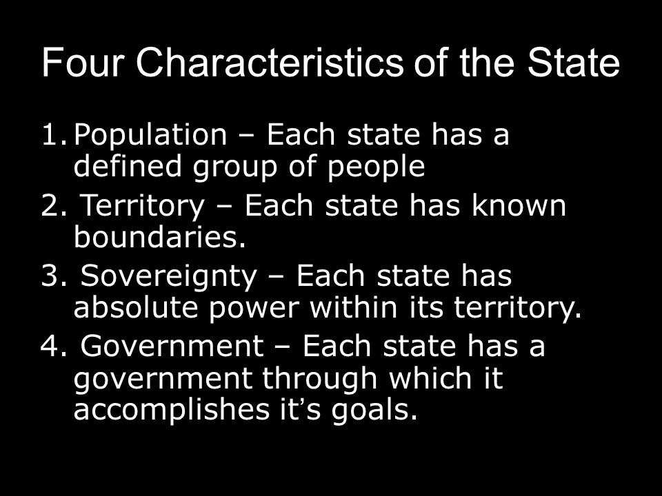Four Characteristics of the State