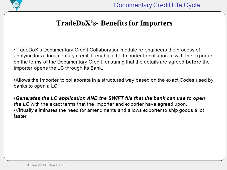 TradeDoX's- Benefits for Importers