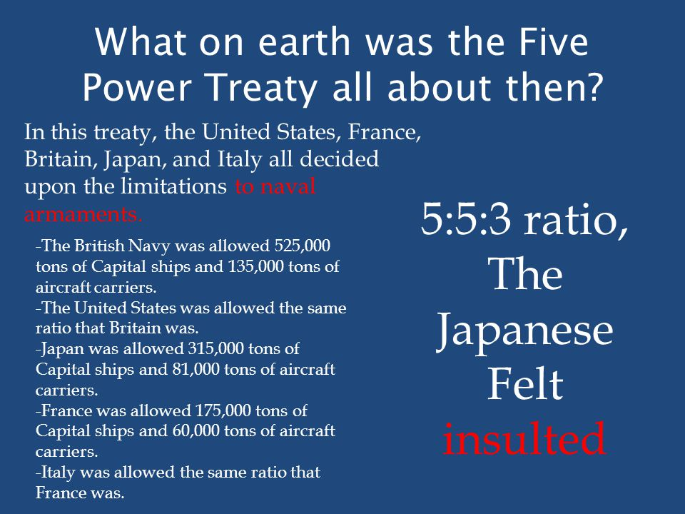 What on earth was the Five Power Treaty all about then