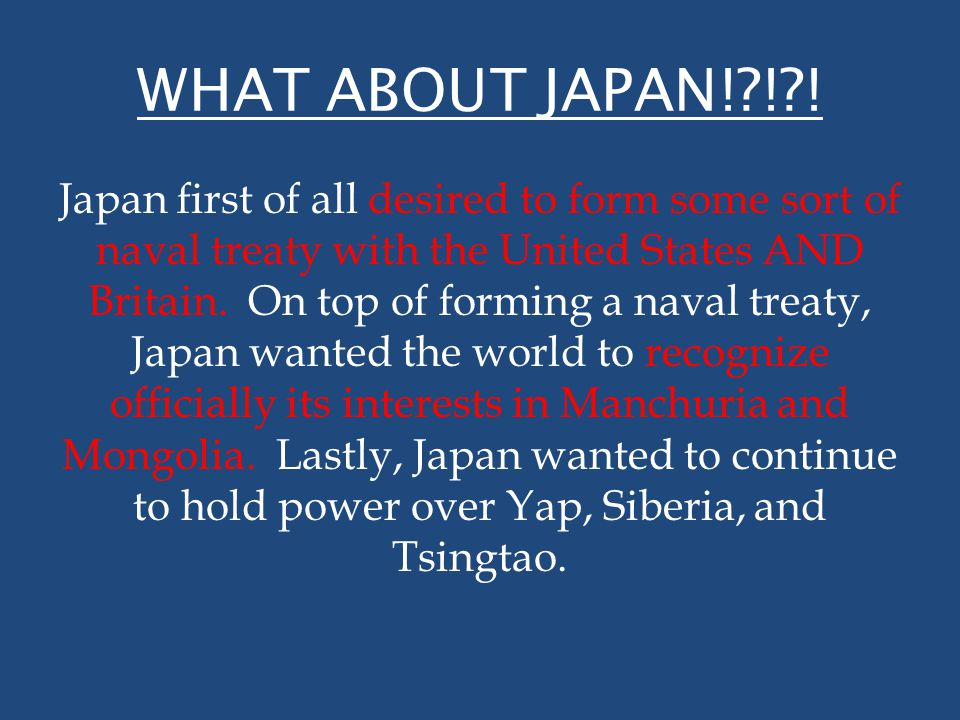 WHAT ABOUT JAPAN! ! !