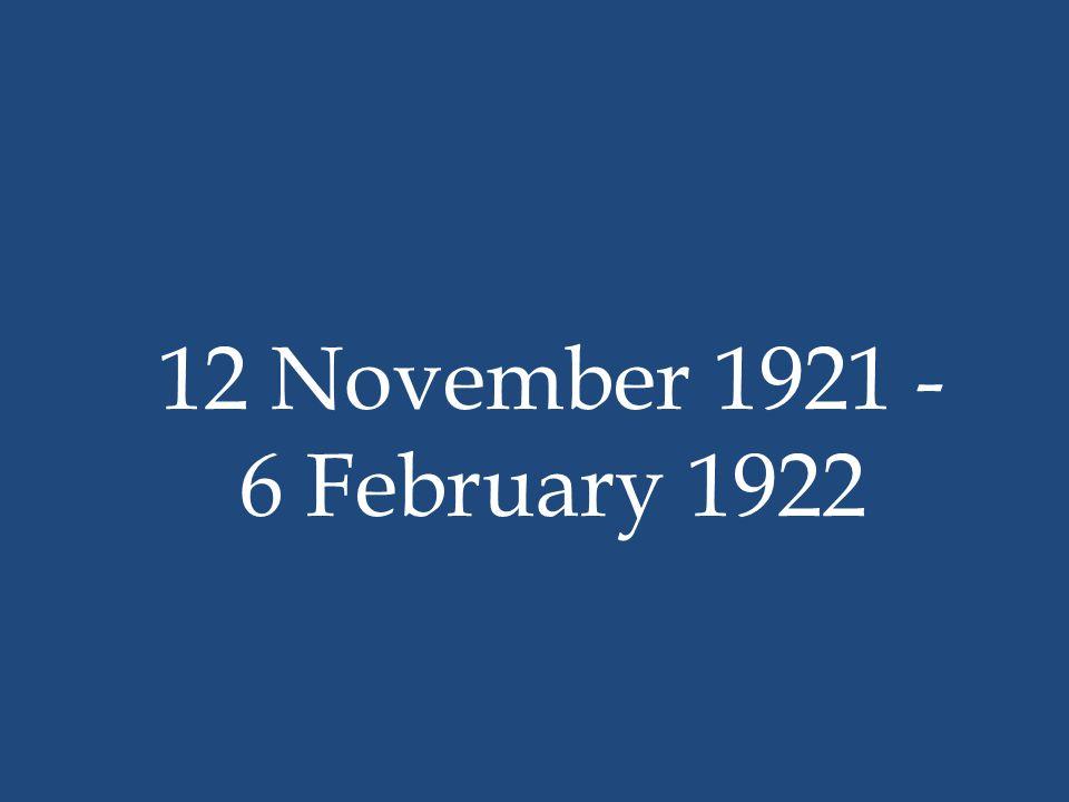12 November 1921 - 6 February 1922