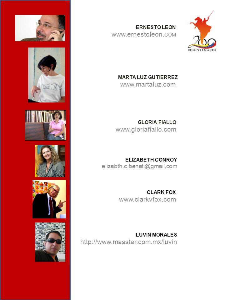 www.ernestoleon.COM www.martaluz.com www.gloriafiallo.com